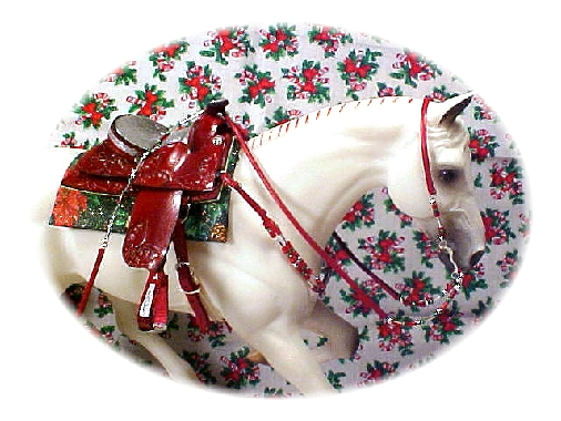 Christmas Saddle Set~Owned By Donna W.